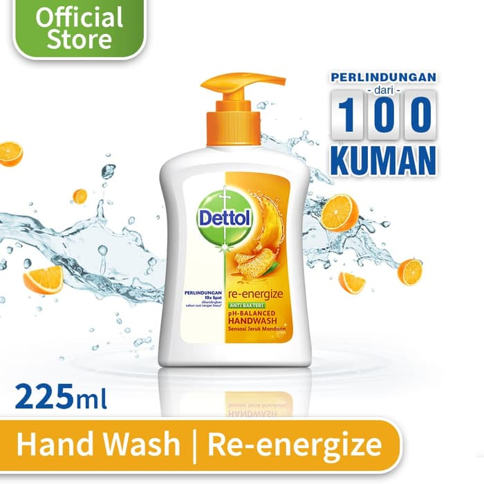 DETTOL Hand Wash Pump Reenergize 225ml