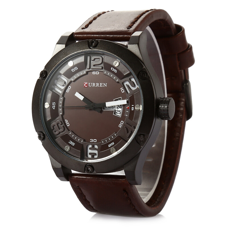 CURREN 8251 Casual Male Quartz Watch with Date Day Display