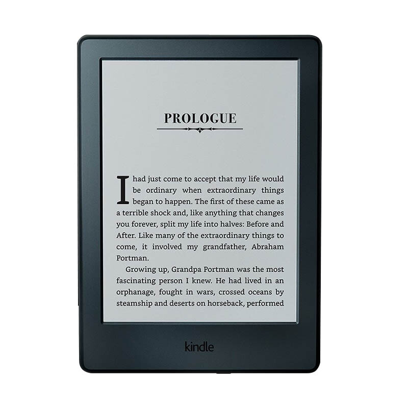 "All-New Kindle E-Reader, 6"" Glare-Free Touchscreen Display, Wi-Fi - Includes Special Offers - Black"