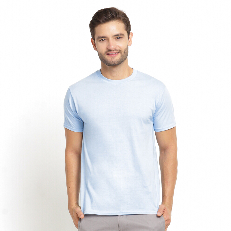 STYLEBASICS Men's Round Neck Basic T-shirt - Light Blue [XL]