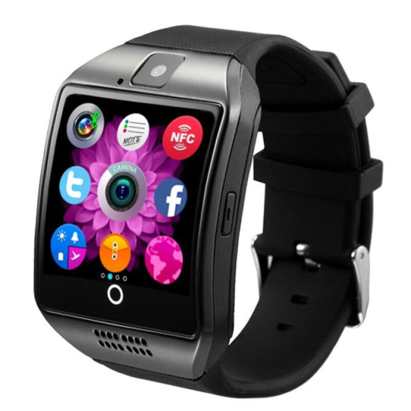 BESSKY Bluetooth Smart Watch Curved surface Camera Support SIM Card For Smartphone_ Black