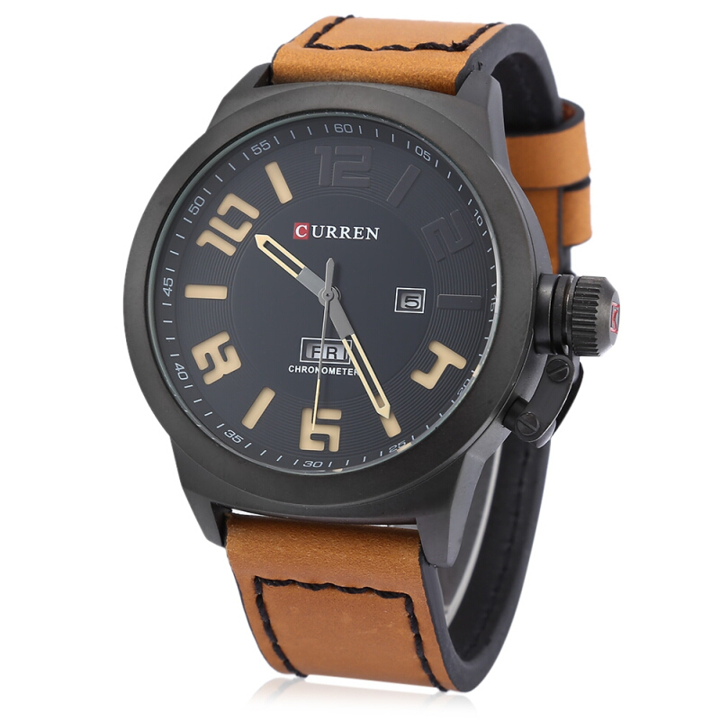 Curren M8270 Men Quartz Watch with Day Date Display