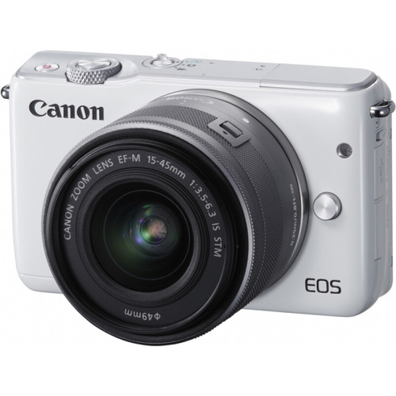 CANON EOS M10 15-45mm f3.5-6.3 IS STM - White White