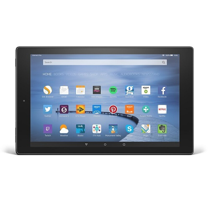 "AMAZON Fire HD 10, 10.1"" HD Display, Wi-Fi, 16 GB - Includes Special Offers, Black"