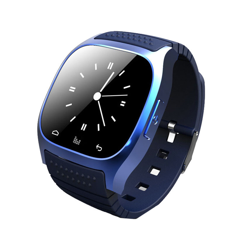 BESSKY 1PC Bluetooth Smart Wrist Watch Phone Mate For IOS Android_ Blue