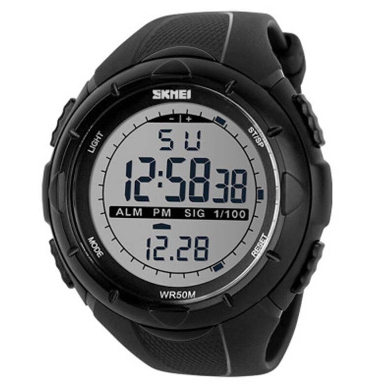 SKMEI Jam Tangan Pria Digital Analog Waterproof LED Watch 1025- Hitam