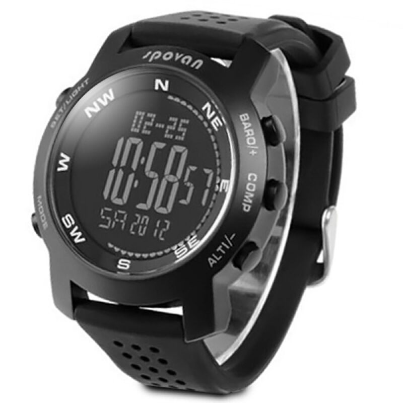 Spovan Multifunctional Outdoor Sports Military Mountaineering Watch Barometer Altimeter Thermometer Compass Climbing Watches