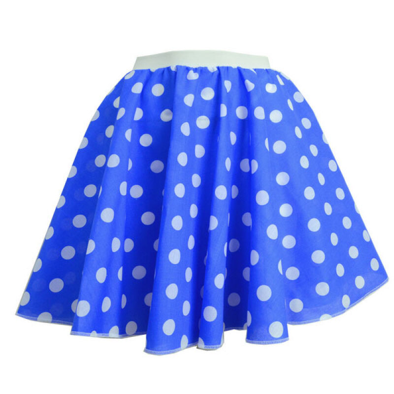 Women's Sexy Sky Blue Dot Above Knee Skirt