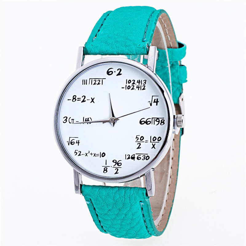BESSKY Fashion Girls Pattern Leather Band Analog Quartz Vogue Watches - Green