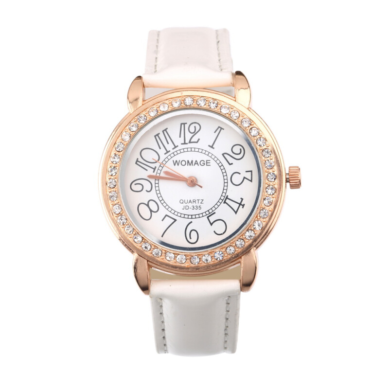 [Kingstore]Fashion Imitation Diamond Watch Analog Quartz Wrist Watch Women Girl Gift