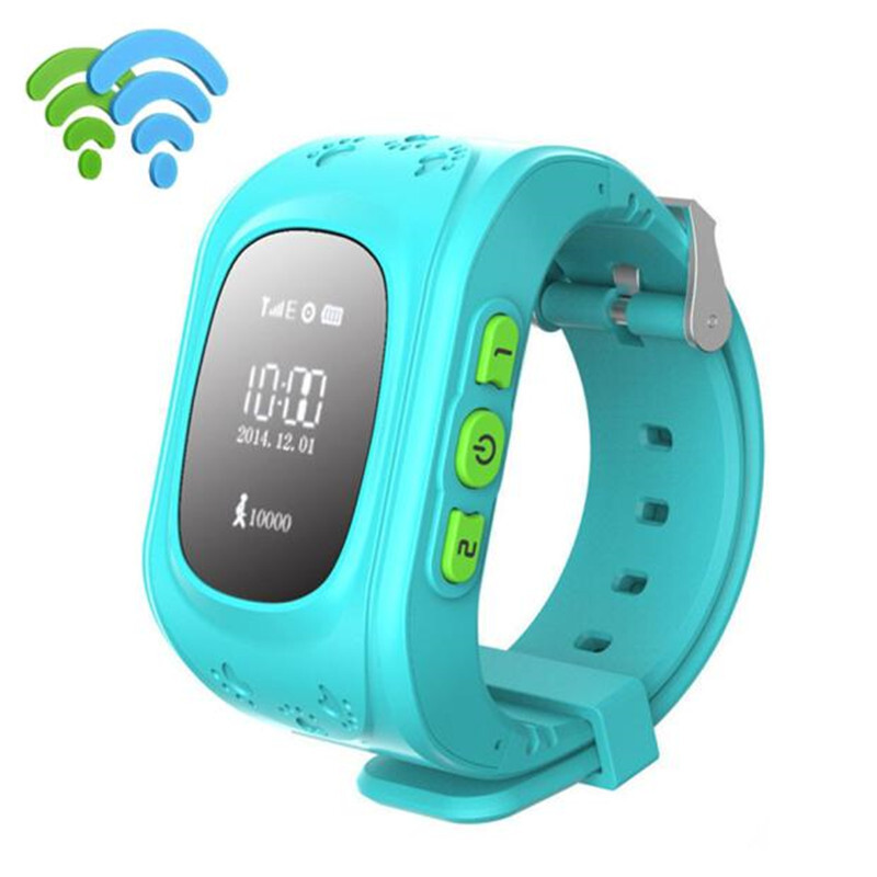 BESSKY Anti-lost Children Smart Watch GPS Positioning Bluetooth Wrist For Android_ Blue