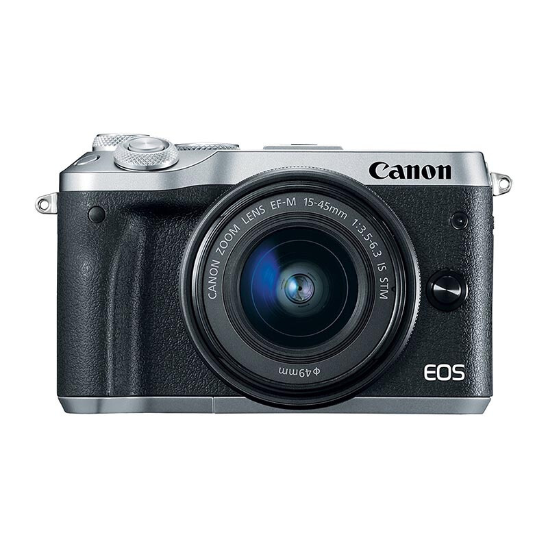 CANON EOS M6 Kit EF-M15-45mm - Silver