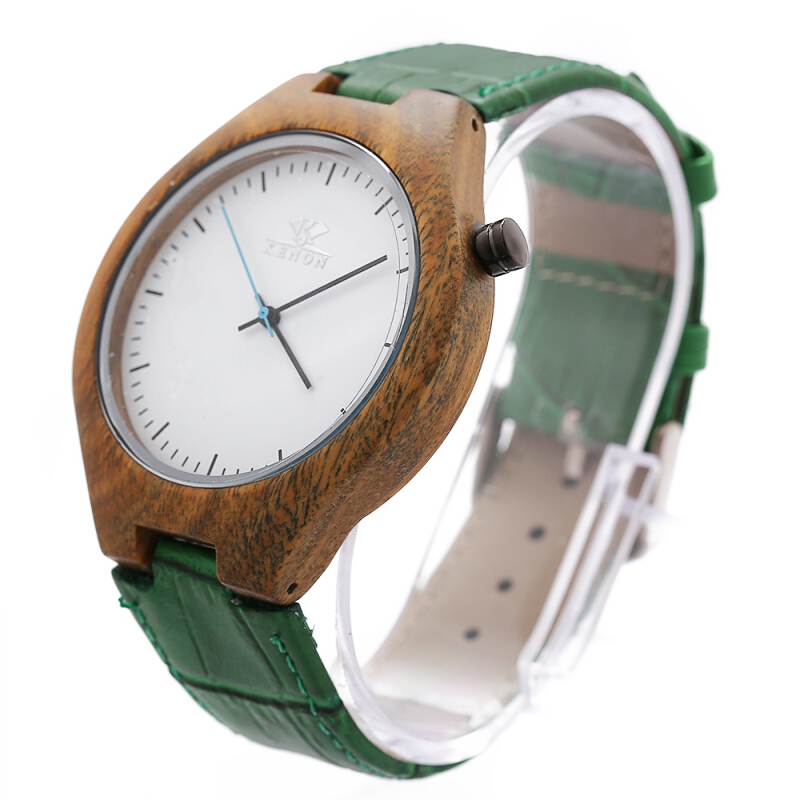 K KENON Japan Movt Quartz Male Watch Leather Band Wristwatch for Men