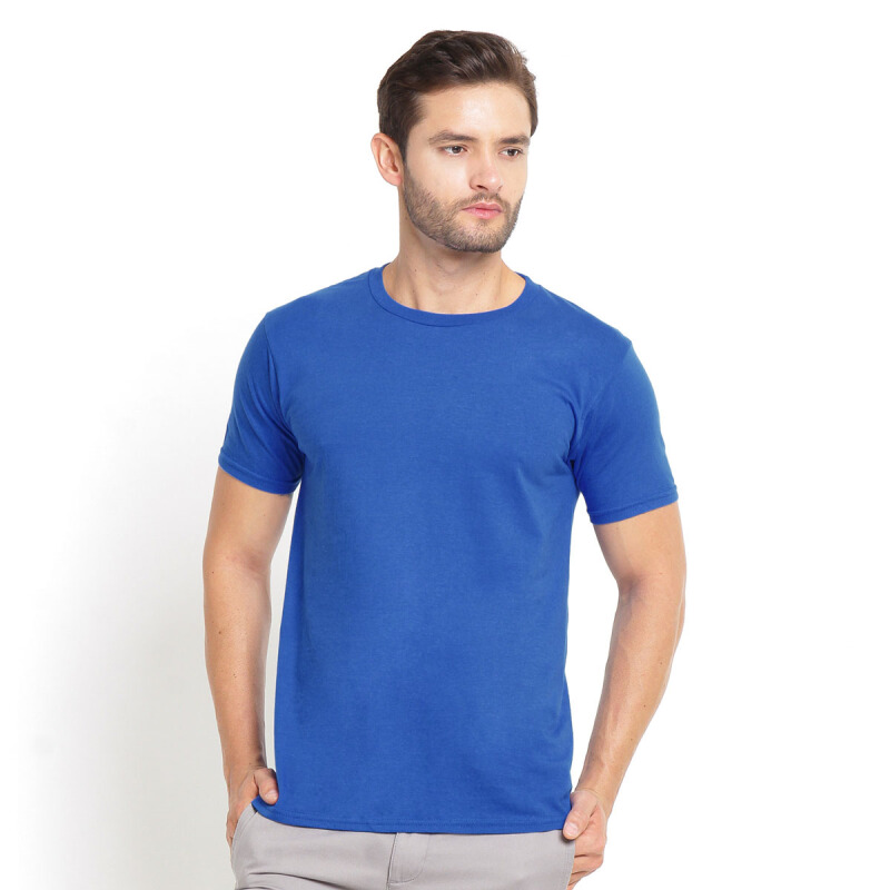 STYLEBASICS Men's Round Neck Basic T-shirt - Royal Blue [XXL]