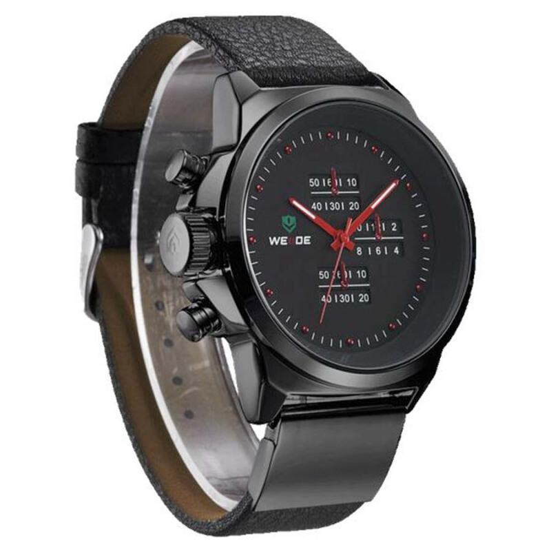 Weide Jam Tangan Pria Analog Digital Casual Led Waterproof 3305 - Hitam