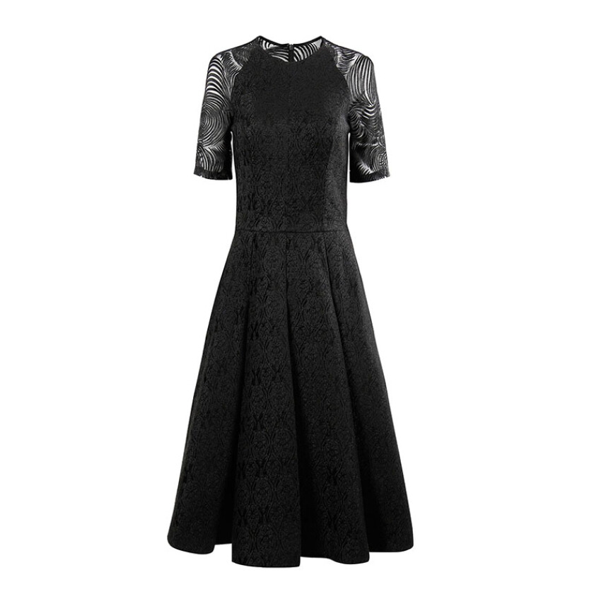 COUTURíSSIMO Hume Lace Sleeved Dress - Black 34 [AW16WXD110ABK01]