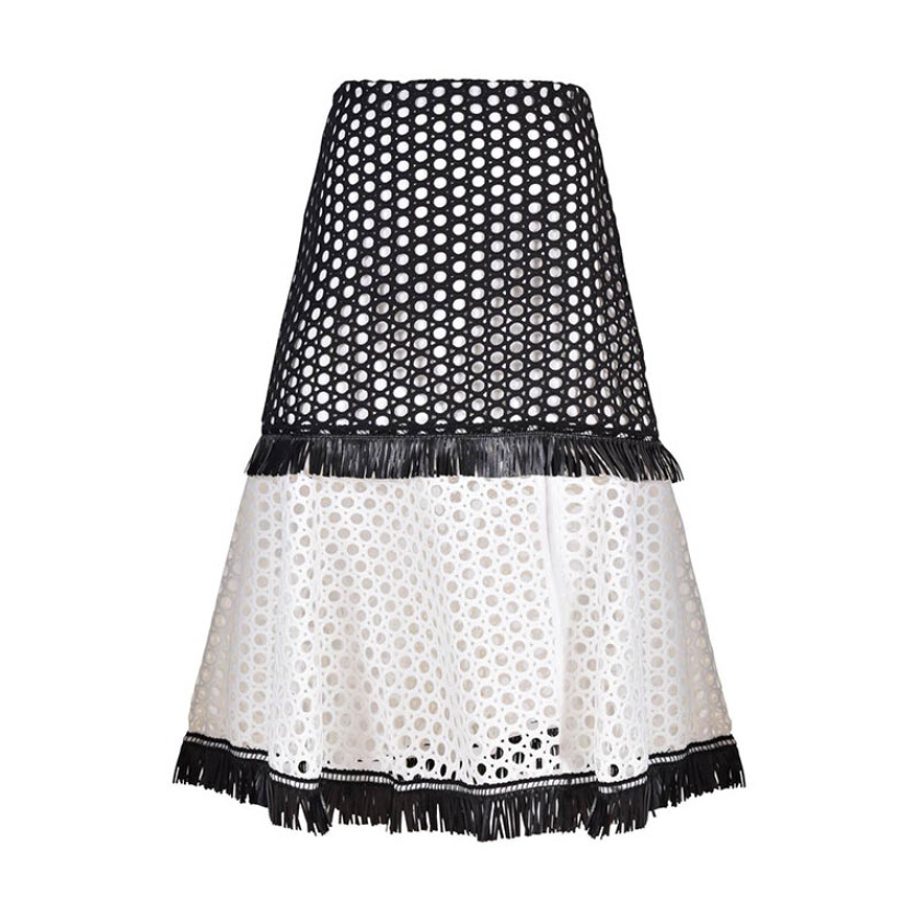 ALEXIS Elisa Embroidery Lace Skirt - Black M [ALE20010878040]