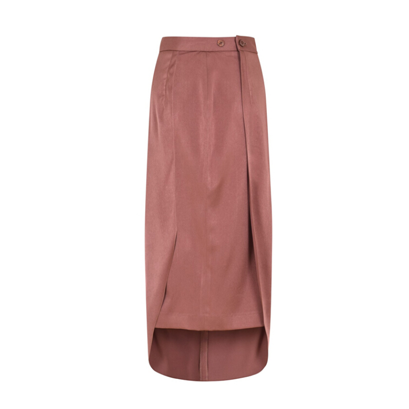 VIVIAN LEE Perspective Diverge Skirt Tan [ALL SIZE]