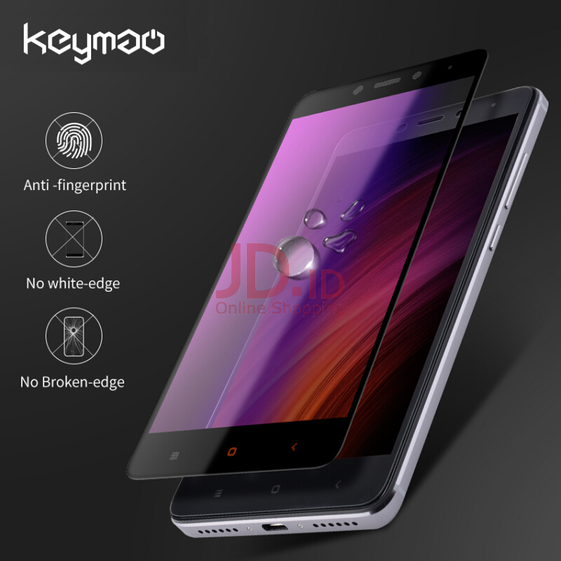 4X Anti Gores Kaca Privacy Source · Keymao Xiaomi RedMi RedMi 4A Tempered .