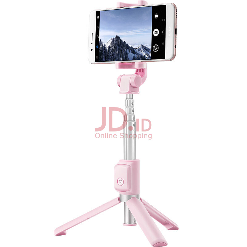 Brovp - Tongsis Tripod Honor Tripod Selfie Stick AF15[wireless] Tongkat Selfie Pink