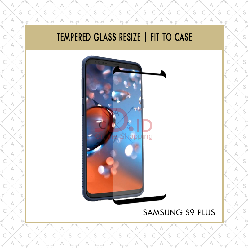 CASA Tempered Glass Resize for Samsung S9 Plus [Fit to Case] Black